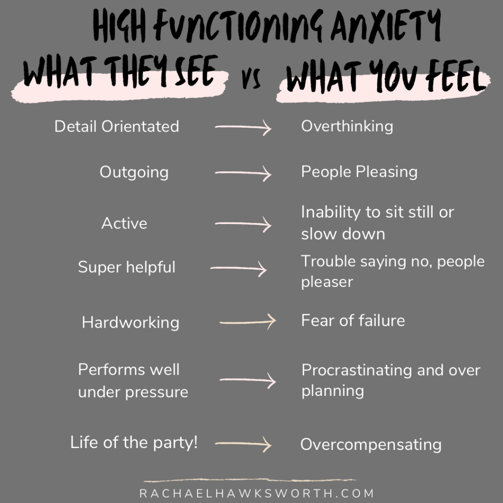 High Functioning Anxiety - How it appears vs how it feels